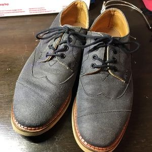 TOMS Ash Aviator Twill Broque Wingtips size 8